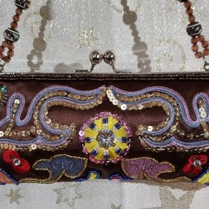Ebisu Sequin Beaded Clutch